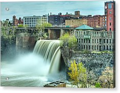 Upper Falls Acrylic Print by Chris Babcock