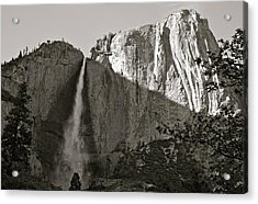 Upper Yosemite Falls Composition In Triangles Acrylic Print