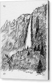 upper falls in Yosemite Acrylic Print