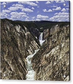 Lower Falls Of Yellowstone River Acrylic Print