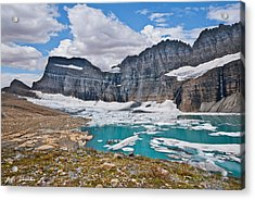 Upper Grinnell Lake And Glacier Acrylic Print