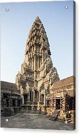 Upper Level Towers Of Angkor Wat Acrylic Print