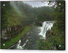 Upper Messa Falls Acrylic Print