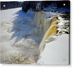 Upper Tahquamenon Falls Acrylic Print by Tim Hawkins