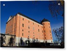 Uppsala Castle - Sweden - With Deep Blue Sky Acrylic Print