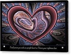Upright Heart Acrylic Print