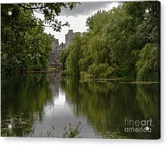 Upriver From Cahir Castle Acrylic Print by Winifred Butler