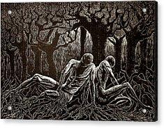 Uprooted Acrylic Print by Maria Arango Diener