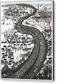 Acrylic Print featuring the painting Ups And Downs by Ping Yan