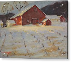 Acrylic Print featuring the painting Upstate by Len Stomski