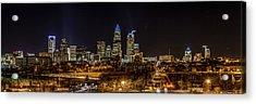 Uptown Charlotte Panorama Acrylic Print