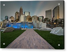 Acrylic Print featuring the photograph Uptown Charlotte by Serge Skiba