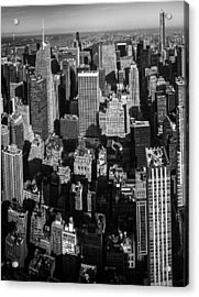 Uptown Manhattan Triptych Left Acrylic Print by David Morefield