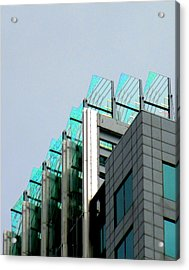 Uptown Rooftop Acrylic Print by Randall Weidner