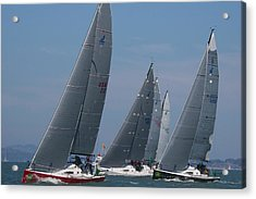 Upwind At The Start Acrylic Print by Steven Lapkin
