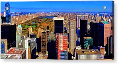 Urban Abstract New York City Skyline And Central Park Acrylic Print by Dan Sproul