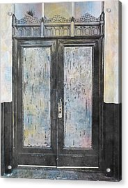 Acrylic Print featuring the photograph Urban Bank Doorway by John Fish