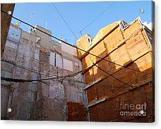 Urban Blue Sky Acrylic Print by Linda Prewer