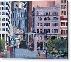 Urban Canyon Congress Street Acrylic Print