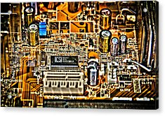 Urban Chipset Acrylic Print by Alex Hiemstra