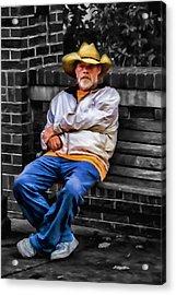 Urban Cowboy Acrylic Print by John Haldane