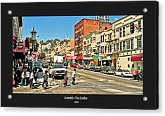 Urban Cross Walks Acrylic Print by Joseph Coulombe