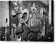 Urban Decay In Black And White Acrylic Print by John Hoey
