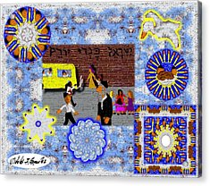 Urban Design- Brooklyn Yeshiva Boy Acrylic Print by Cibeles Gonzalez
