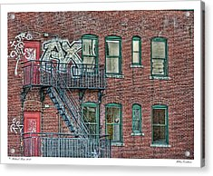 Acrylic Print featuring the photograph Urban Existence by Richard Bean