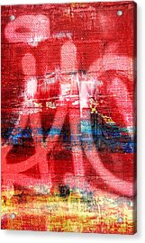 Urban Graffiti Abstract Color Acrylic Print by Edward Fielding
