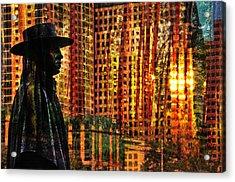 Urban Guru Acrylic Print by Skip Hunt
