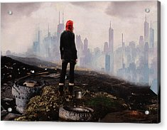 Acrylic Print featuring the digital art Urban Human by Galen Valle