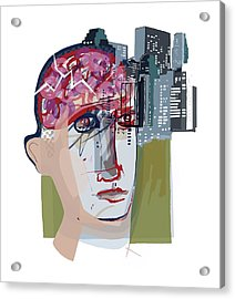 Urban Mental Health Acrylic Print by Paul Brown