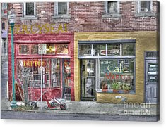 Urban Mercyseat Oil Painting Acrylic Print by Liane Wright