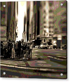 Urban Poster Acrylic Print by Dan Sproul