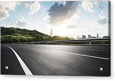 Urban Road,usa Acrylic Print by Yubo