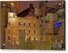 Urban Ruins At Night Acrylic Print