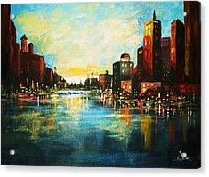 Urban Sunset Acrylic Print by Al Brown
