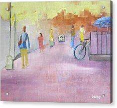 Urban Walk Acrylic Print by Patricia Cleasby