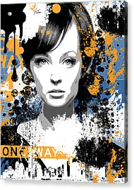 Urban Woman Acrylic Print