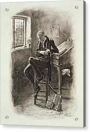 Uriah Heep, From Charles Dickens A Acrylic Print by Frederick Barnard