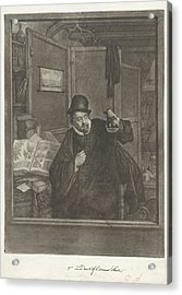 Urine Examiner, Doctor, Jan Stolker, Adriaen Van Ostade Acrylic Print by Jan Stolker And Adriaen Van Ostade