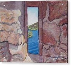 Archers' Window Urquhart Ruins Loch Ness Acrylic Print