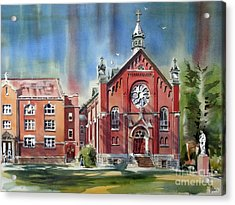 Ursuline Academy With Doves Acrylic Print