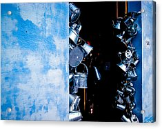 Uruguayan Tin  Acrylic Print by Cecil K Brissette