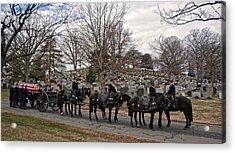 Us Army Caisson At Arlington National Cemetery Acrylic Print