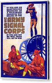 Us Army Signal Corps, 1917-20 Acrylic Print by Horace Devitt Welsh