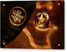 Us Border Patrol Acrylic Print by Daniel Alcocer