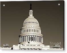 Us Capital Building Dome Acrylic Print by Dustin K Ryan