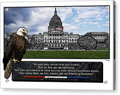 Us Capitol With Eagle Acrylic Print by Rose Borisow